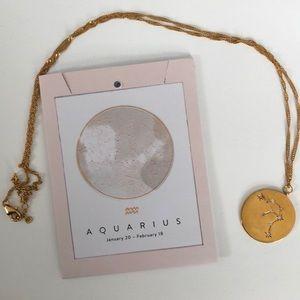Anthropologie Zodiac Coin necklace